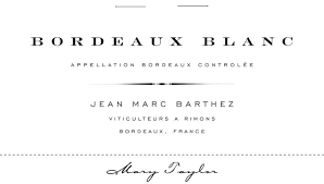 """Mary Taylor """"Jean Marc Barthez"""" Bordeaux Blanc 2020 - 750ml"""
