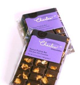 Charles Chocolates Peanut Praline Bar 3.5 oz