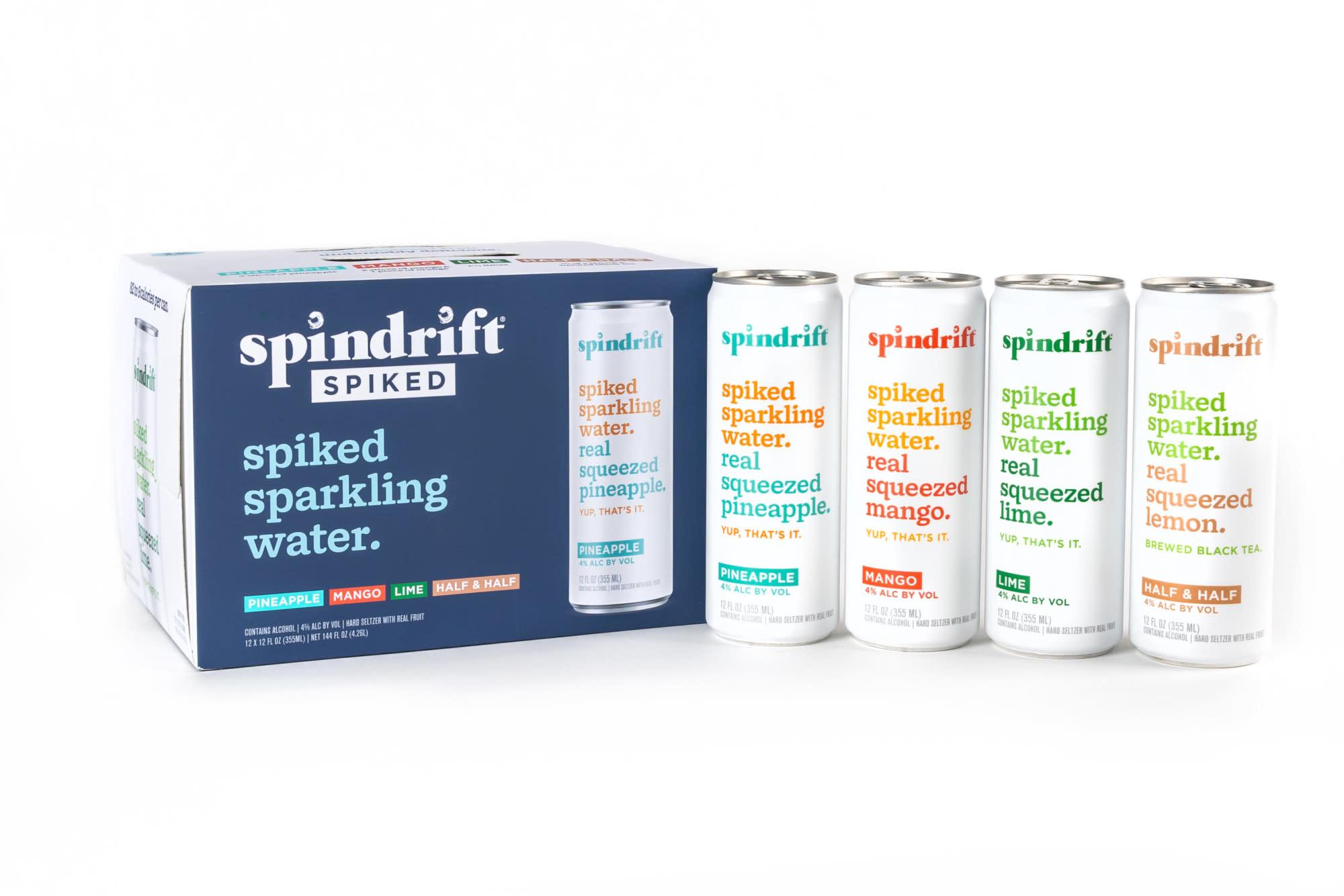 Spindrift Spiked Seltzer Case Cans 2/12pk - 355ml