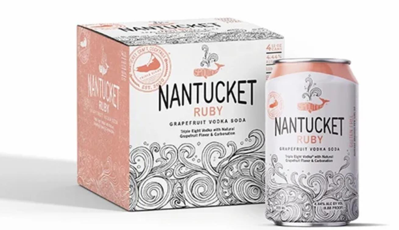 "Triple Eight ""Nantucket Ruby"" Vodka Grapefruit Soda Cans 4pk"