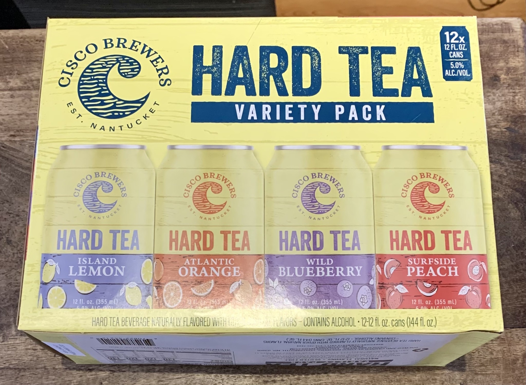 Cisco Brewers Hard Tea Variety Pack Case Cans 2/12pk - 12oz