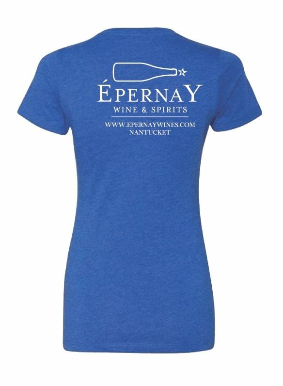 Epernay Tee Shirt Ladies - Royal