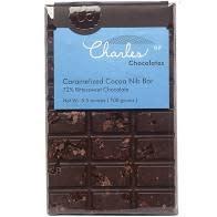Charles Chocolates Caramelized Cocoa Nib Bar 3.5 oz