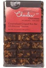Charles Chocolates Caramelized Crisped Rice Bar  3.5 oz