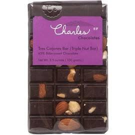 Charles Chocolates Tres Cojones (Triple Nut) Bar 3.5 oz
