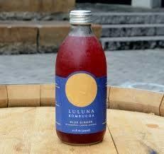 "Luluna Kombucha ""Blue Ginger"" Bottle 12oz"