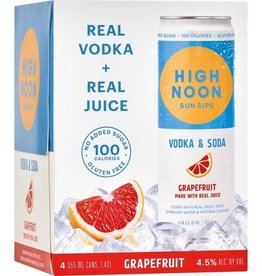 High Noon Sunsips Grapefruit Vodka and Soda Cans 4pk - 355ml