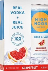 High Noon Sunsips Grapefruit Vodka and Soda Case Cans 6/4pk - 355ml
