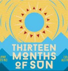 """Two Roads and Evil Twin """"13 Months of Sun IPA"""" Case Cans 6/4pk - 16oz"""