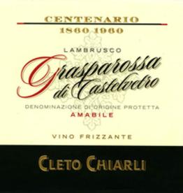 Cieto Chiarli Lambrusco Gasparossa di Castlelveto Centenario Amabile NV - 750ml