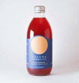 """Luluna Kombucha """"Hibiscus Lemonade"""" Bottle 12oz"""