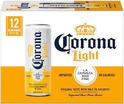 Corona Light Case Cans 2/12pk - 12oz