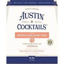 Austin Craft Cocktails Sparkling Ruby Red Grapefruit & Vodka Cans 4pk - 355ml