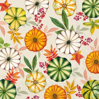 IHR Cocktail Napkins Colourful  Pumpkins