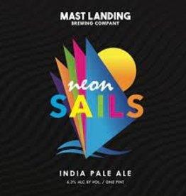 """Mast Landing """"Neon Sails"""" IPA Case Cans 6/4pk - 16oz"""