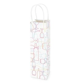 REVEL Kraft Wine Gift Bag - Confetti Bottle Outline