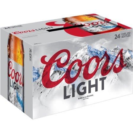 Coors Light Case Bottles 4/6pk - 12oz
