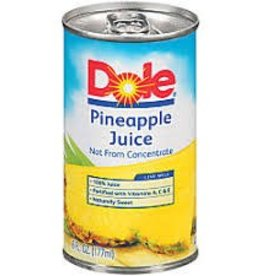 Dole Pineapple Juice Can 6oz