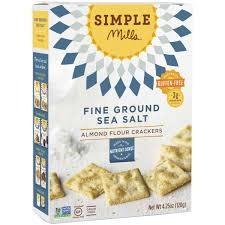 Simple Mills Gluten Free Almond Flour Sea Salt Crackers 4.25 oz