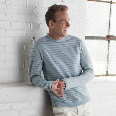 Oxford Ox-Jersey Crewneck-Edison Stripe