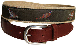 Belted Cow BC - LTB Woodland Birds Green on Camel