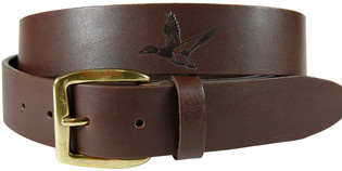 Belted Cow BC - Duck Emboss Latigo Leather Belt