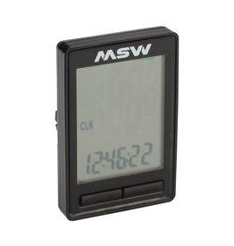 MSW CC-200 Miniac 10-Function Cycling Computer, Wireless, Black
