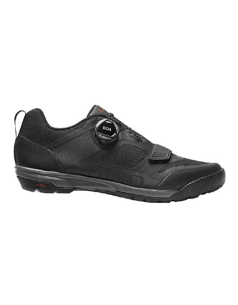 Giro Ventana Fastlace Dirt Shoes - Black/Dark Shadow - Size 43
