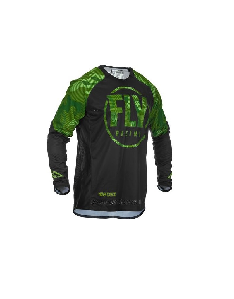 FLY RACING EVOLUTION DST JERSEY GREEN/BLACK MD