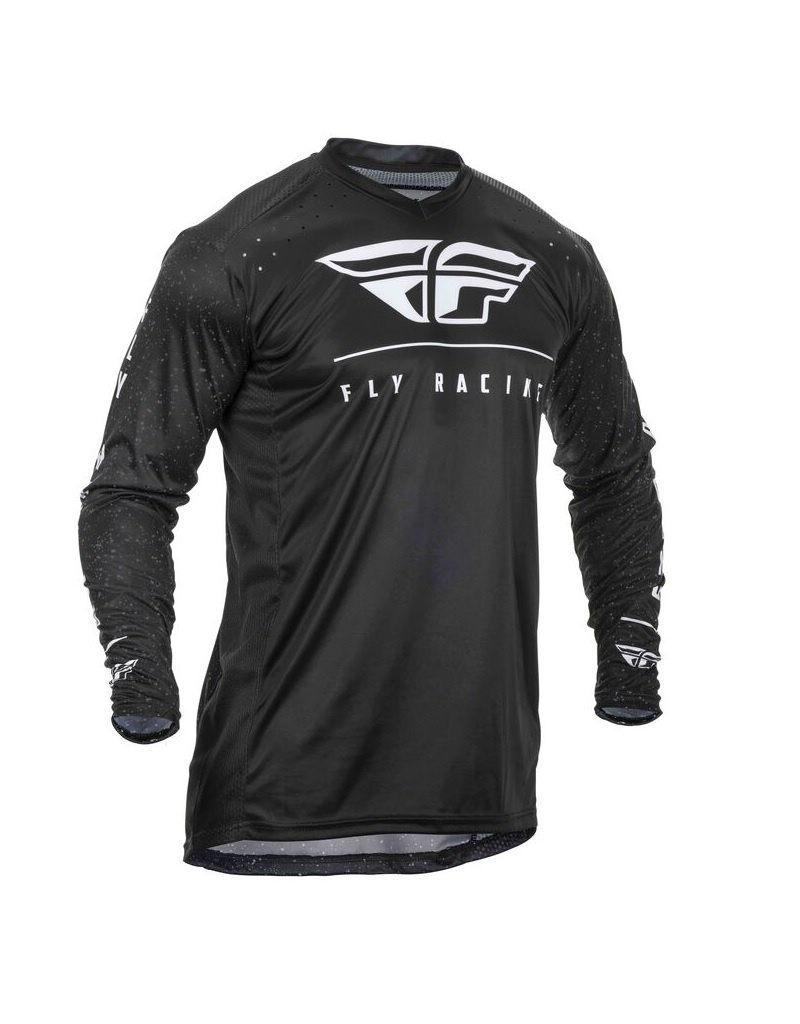 FLY RACING ACTION JERSEY BLACK/WHITE LG