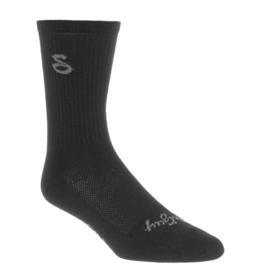 SockGuy SockGuy Wool Tall Socks - 6 inch, Black, Large/X-Large
