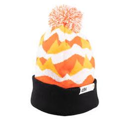 45NRTH 45NRTH Polar Flare Pom Hat - Orange, Black, White, One Size