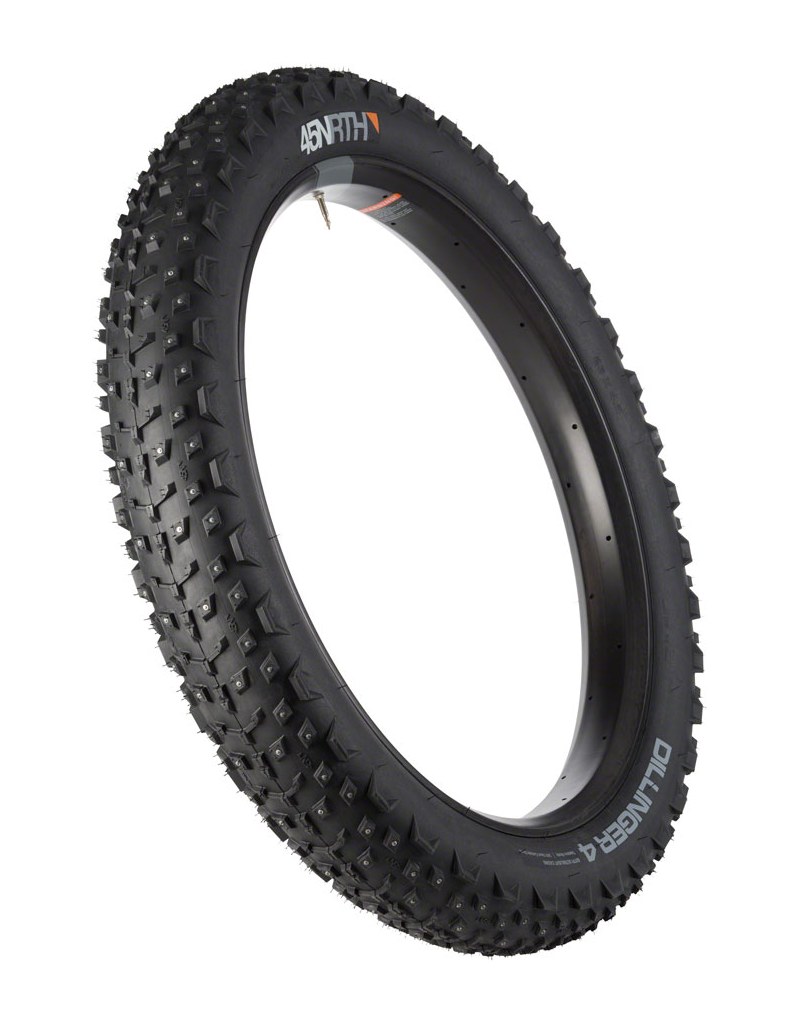 45NRTH 45NRTH Dillinger 4 26x4, Tubeless, Folding, Black, 60tpi, 240 Carbide Steel Studs