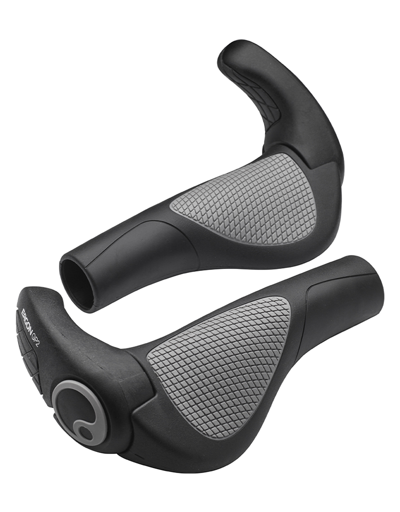 Ergon Ergon GP2 Grips - Black/Gray, Lock-On, Large