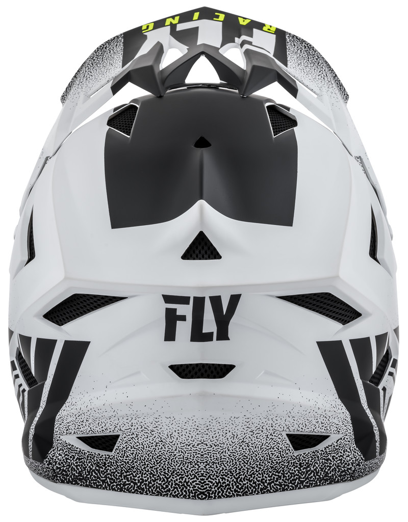 FLY RACING DEFAULT HELMET MATTE WHITE/BLACK YM