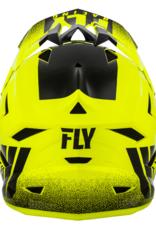 FLY RACING DEFAULT HELMET HI-VIS YELLOW/BLACK SM