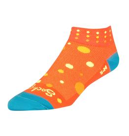 SockGuy SockGuy Classic Bubbles Socks - 1 inch, Orange, Women's, Small/Medium