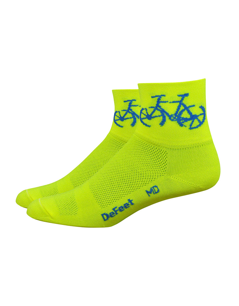 DeFeet DeFeet Aireator Townee Socks - 3 inch, Hi-Vis Yellow, X-Large