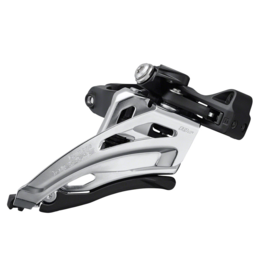 Shimano Shimano Deore FD-M4100-M Front Derailleur - 10 Speed, Double, Side Swing, Front Pull, Clamp Band, Silver/Black