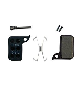 SRAM SRAM Disc Brake Pad Set Organic with Steel Back fits Hydraulic Road Disc, Level Ultimate and Level TLM