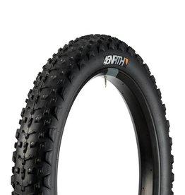 "45NRTH 45NRTH Dillinger 4 Studded Fatbike Tire: 26 x 4.0"", 240 concave studs, Tubeless Ready Folding 120tpi, Black"