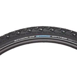 Schwalbe Marathon Winter Plus Tire 29 x 2.00, Wire Bead, Performance Line, Winter Compound, SmartGuard, TwinSkin, 208 Steel Studs, Black/R