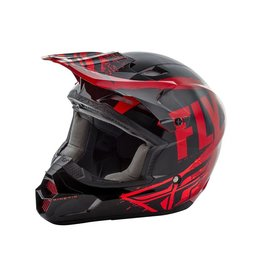 Fly Kinetic Burnish Helmet: Black/Red/Orange Ys
