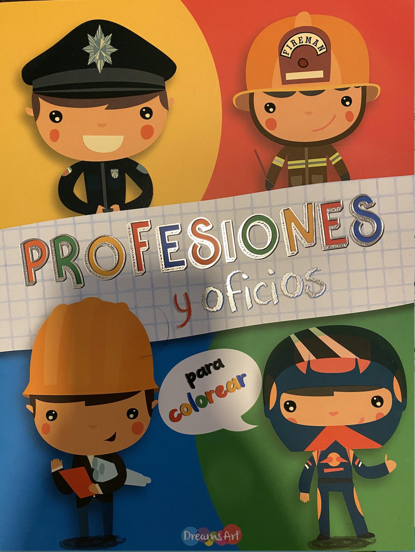 Profesiones y oficios (para colorear)