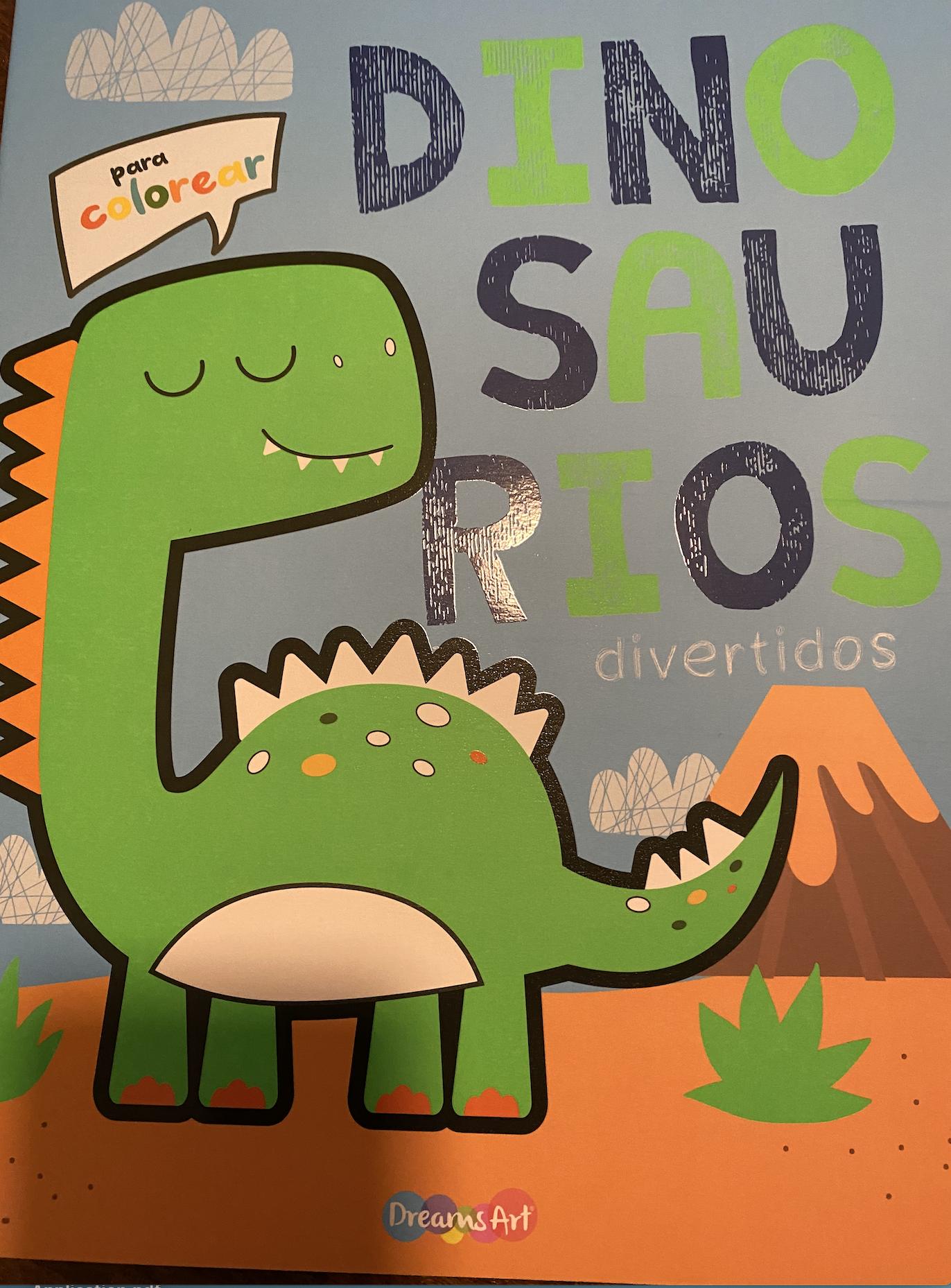 Dinosaurios divertidos para colorear