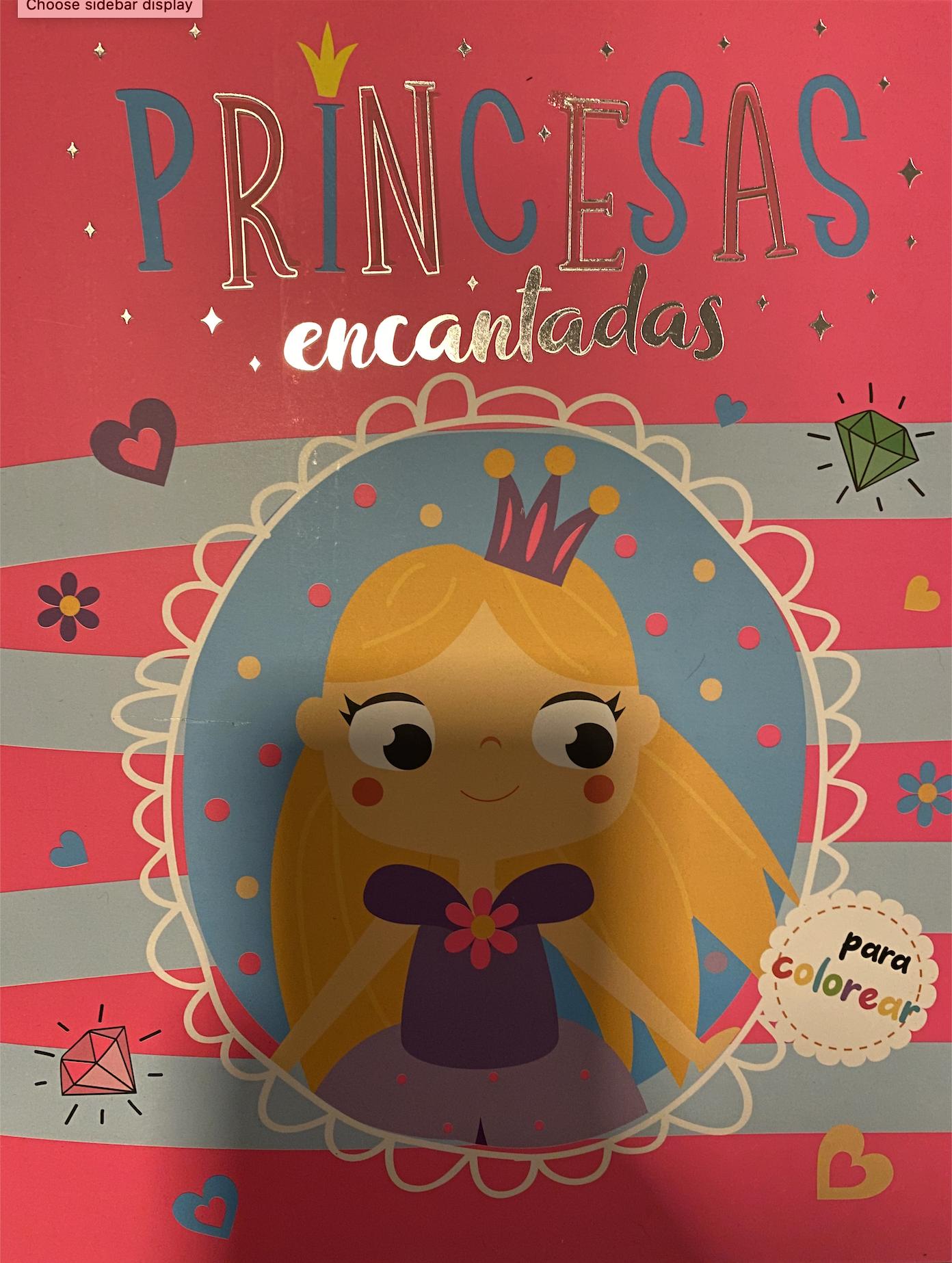 Princesas encantadas para colorear