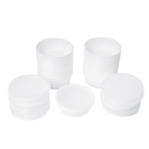 Therapy Equipment Theraputty 4oz and 6oz Containers and Lids ONLY (25 Pack)