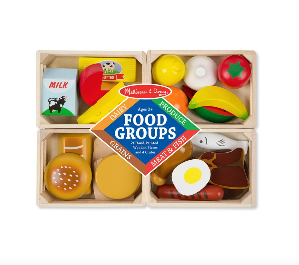 Toys & Games Melissa & Doug Food Groups - Wooden Play Food