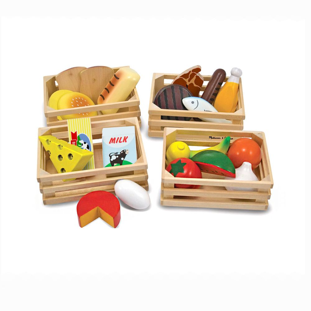 Toys Games Melissa Doug Food Groups Wooden Play Food