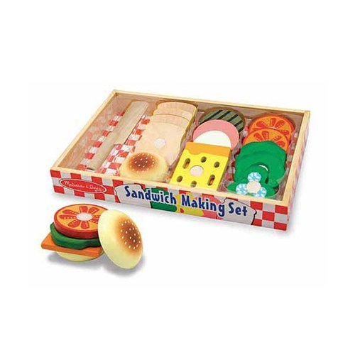 Toys & Games Melissa & Doug Sandwich Making Set - Wooden Play Food
